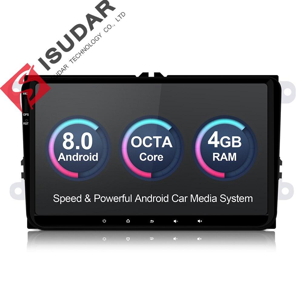 Isudar 1 Din Stereo Multimedia player Android 8.0 GPS Do Carro Para Volkswagen/VW/POLO/PASSAT/Golf /Skoda/Octavia/Seat/Leon Rádio HD
