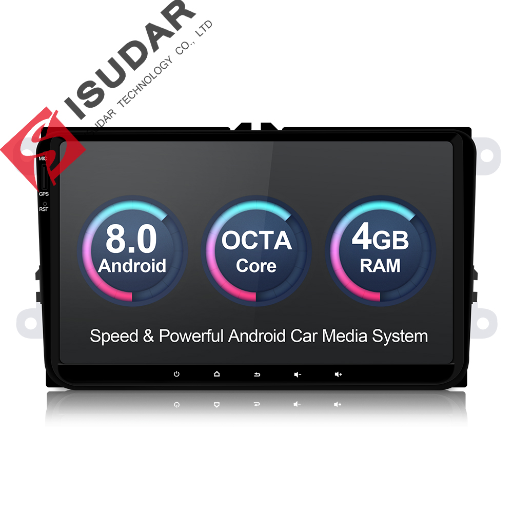 Isudar Auto Multimedia player Android 8.0 GPS 1 Din Stereo Für Volkswagen/VW/POLO/PASSAT/Golf/ skoda/Octavia/Sitz/Leon Radio HD