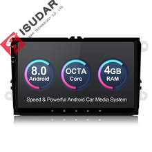 Isudar Car Multimedia player Android 8.0 GPS 1 Din Stereo Per Volkswagen/VW/POLO/PASSAT/Golf /Skoda/Octavia/Seat/Leon Radio HD