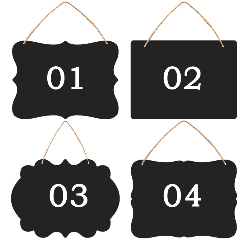 Creative Small Blackboard Mini Double-Sided Wooden Message Board Label Price Sign Chalkboards Children BlackBoard, 23X17CM