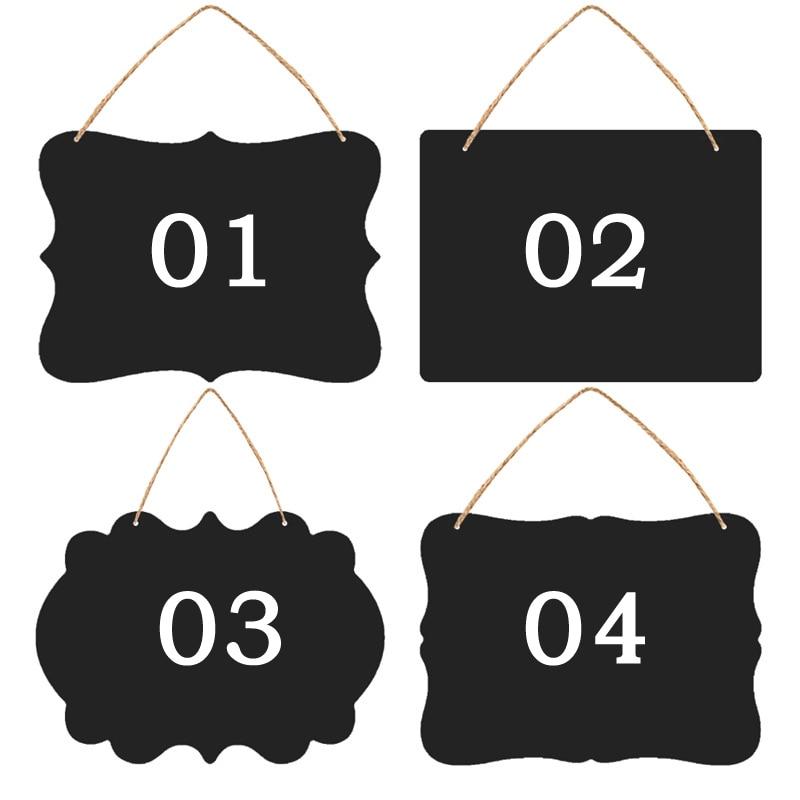 Creative Small Blackboard Mini Double-Sided Wooden Message Board Label Price Sign Chalkboards Children BlackBoard, 23X17CM