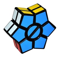 New Arrival 2 Layers Hexagonal Magic Cube David Star Shaped Puzzle Cube Speed Twist Cubo Magico