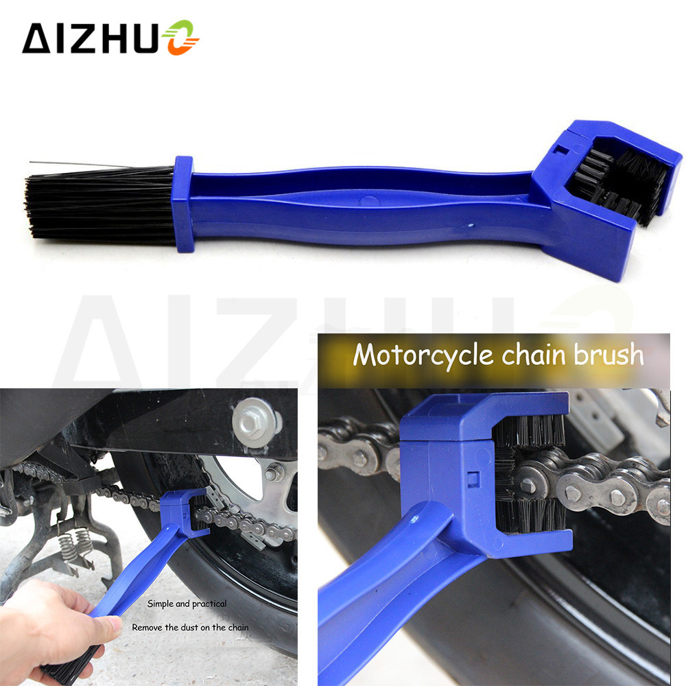 Motorcycle Bicycle Chain Clean Brush Cleaner Cleaner Scrubber Tool For Ktm 690 Duke 200 Duke RC200 390duke RC390 <font><b>CBR600</b></font> <font><b>F2</b></font> F3 image