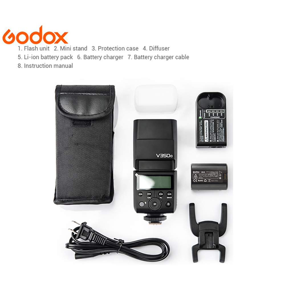 Godox V350 Camera Flash TTL Wireless Speedlite 1 8000s HSS for Canon Nikon Sony Olympus Fujifilm