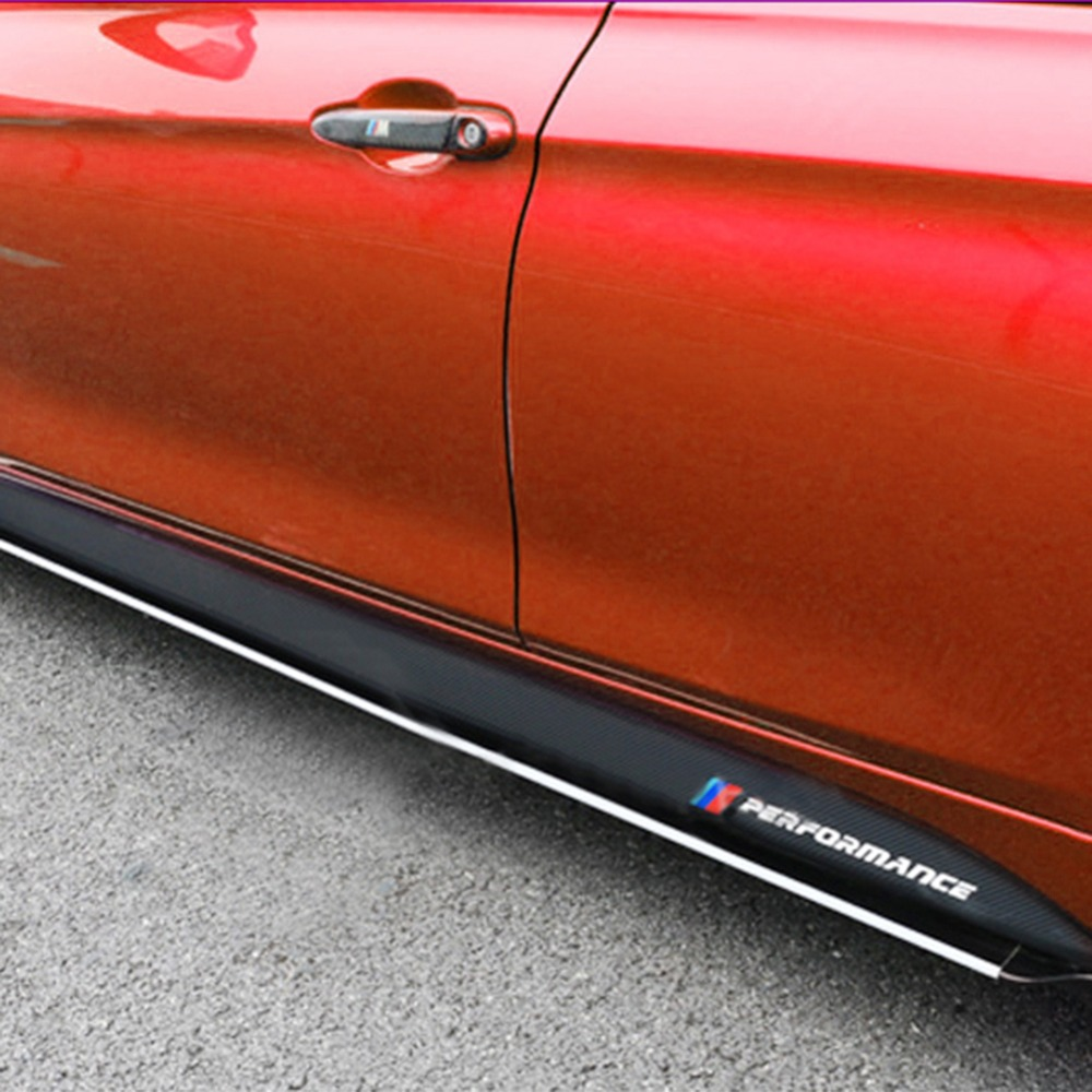 [Original]1 Pair Non-slip Side Skirt Sills Car <font><b>Stickers</b></font> For <font><b>BMW</b></font> F30 <font><b>F31</b></font> F32 F33 F15 F16 F10 E60 E61 Carbon Fiber Vinyl Decals image