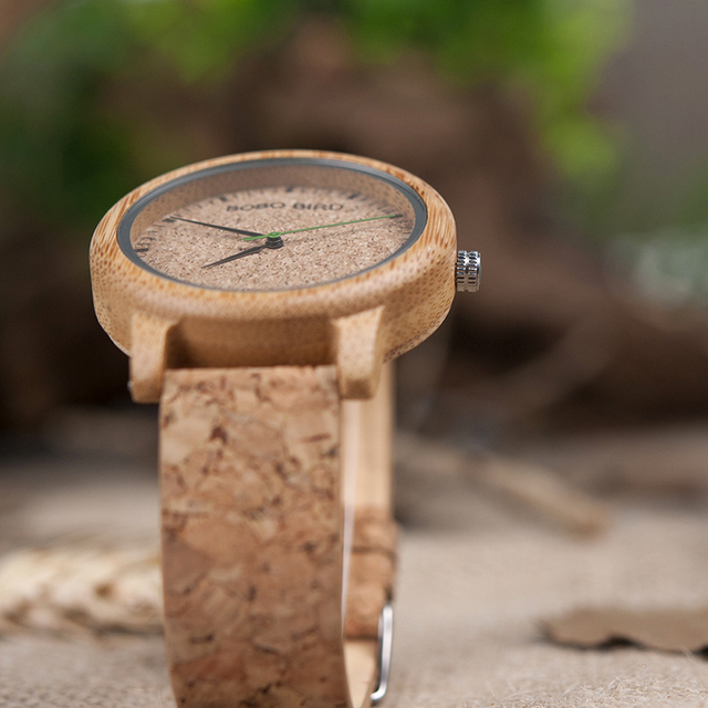 BOBO BIRD Watches Bamboo Couple Clocks Analog Display Bamboo Material Handcrafted Timepieces Wooden Watch Men Made in China 5