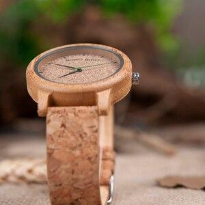 Image 5 - ボボ鳥腕時計竹カップル時計アナログディスプレイ竹素材手作り時計木製腕時計男性中国製