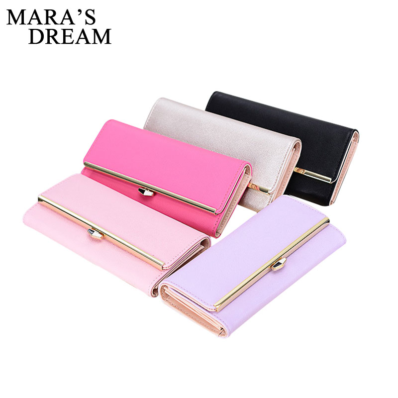 Mara's Dream Long Envelope Clutch Wallet Women PU Leather Hasp Fashion Wallet For Phone Money Bags Card Holders Purses Criteria weichen new geometric envelope clutch wallet for women pu leather hasp fashion design wallet for phone money bags coin purse