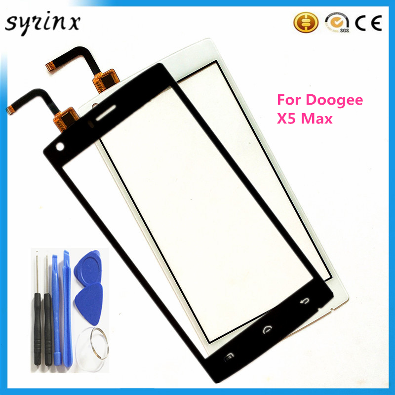5.0 inch For Doogee X5 Max Touchscreen Sensor Guarantee Front Glass Panel Touch Screen Digitizer For Doogee X5 Max Free Tools