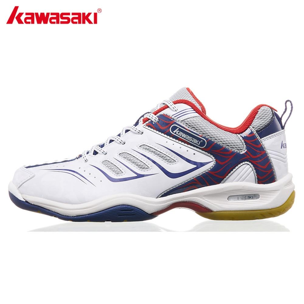 Kawasaki Badminton Shoes for Men White Professional Indoor Court Sports Sneakers Anti-Slippery Hard-Wearing K-156 2018 NEW professional brand kawasaki badminton shoes 2017 sport sneakers for men women anti slippery pvc floor sports shoe k 065 k 066