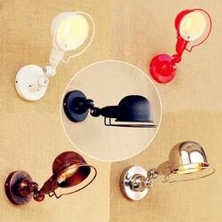 Lampy ścienne loft w stylu vintage podwójne długie ramię kinkiet lamparas de pared regulowany uchwyt metalowy rustykalnym światła kinkiety ścienne oprawy oświetleniowe w Lampy ścienne od Lampy i oświetlenie na