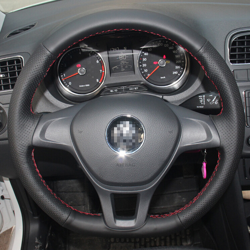 car steering wheel cover for volkswagen vw golf 7 mk7 new. Black Bedroom Furniture Sets. Home Design Ideas