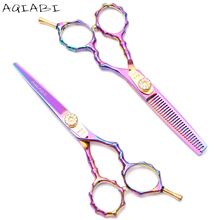 5.0 13.5cm Japan Kasho 440C Professional Human Hair Scissors Hairdressing Cutting Shears Thinning H1017