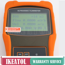 Digital Portable TUF-2000H TS-2-HT Transducer (DN15-100mm) Ultrasonic Flow Meter Flowmeters