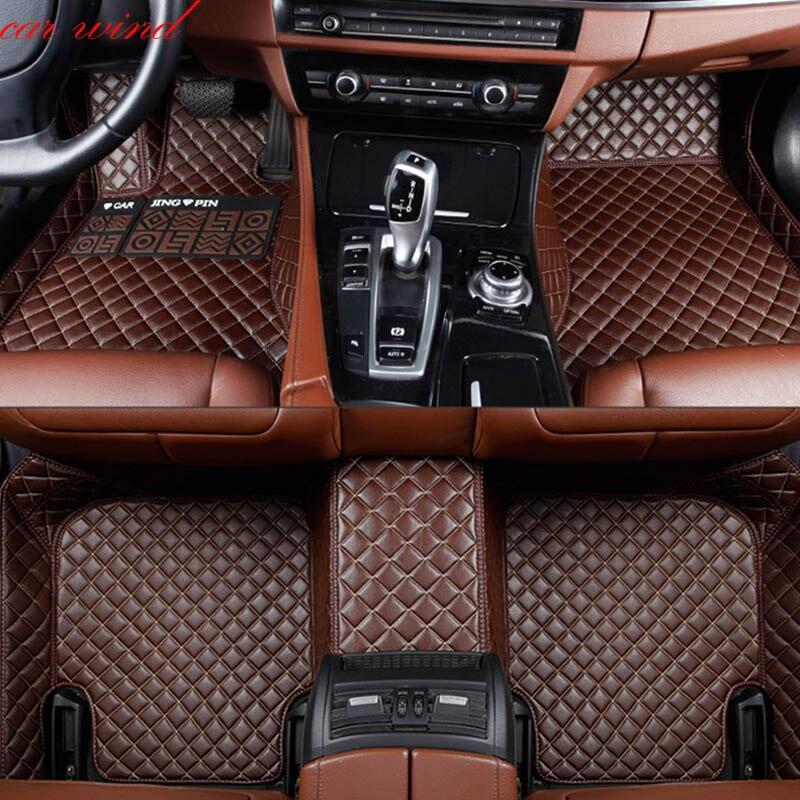 Car Wind Auto car floor Foot mat For pajero sport 4 grandis lancer outlander xl 2017 2013 car accessories waterproof carpet