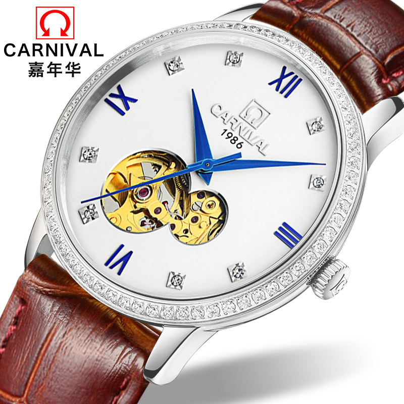 Carnival Watch Men Japan MIYOTA 8N24 Automatic Mechanical Brand Luxury Men Watches Sapphire reloj hombre Diamond Clock C5676-2Carnival Watch Men Japan MIYOTA 8N24 Automatic Mechanical Brand Luxury Men Watches Sapphire reloj hombre Diamond Clock C5676-2