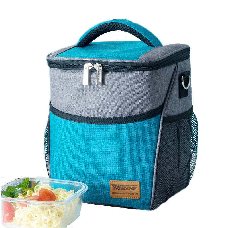 Mens Thickening Shouler Insulated Cooler Bag High Quality Travel Picnic Food Storage Container Big Thermal Lunch Tote Bento Box