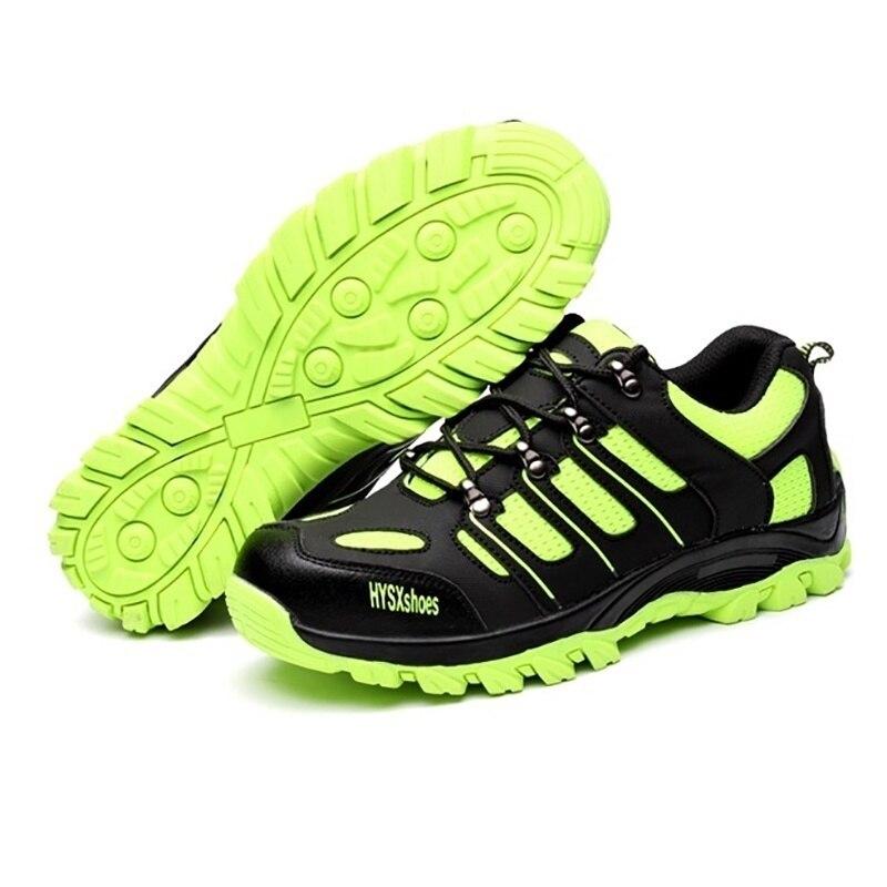 Chaussures Embout Outillage Acier En Au Bottes Air Respirant Sécurité Travail Vert Femmes Protection Green De Plein Fluorescent Hommes H76w1nOxq0
