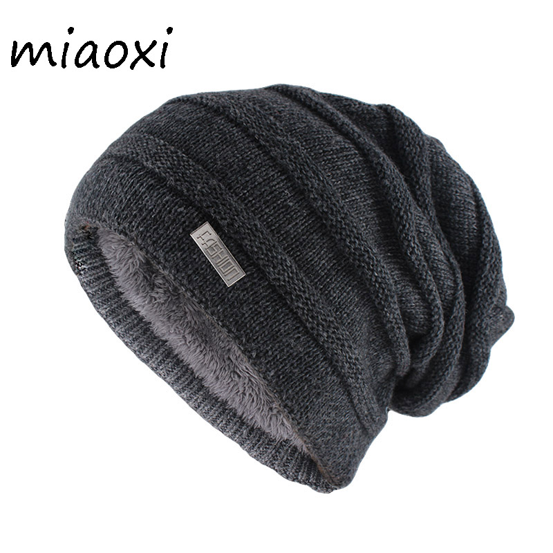 Miaoxi New Arrival Adult Unisex Striped Winter Warm Hat Caps For Women Knitted Casual Hats Brand Fashion Gorros