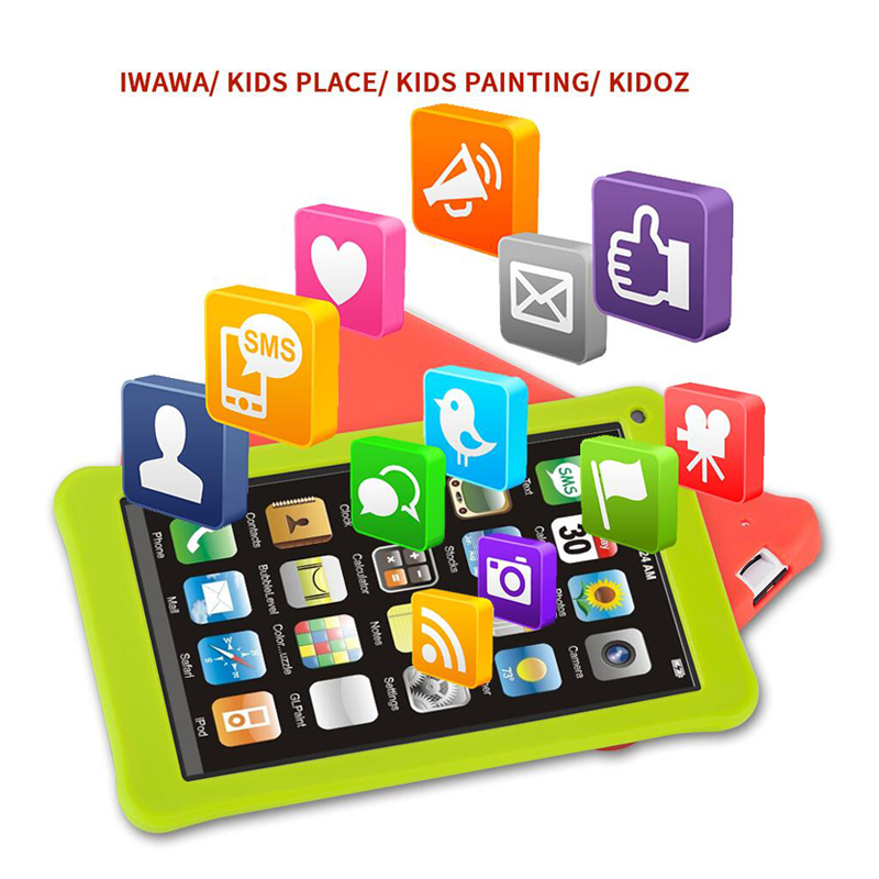 Aoson M753/S7+ 7 inch Kids Tablets PC 16GB+1GB Android 7 Quad Core 3G phone callTablet Dual Cameras WIFI Google Store Best gift