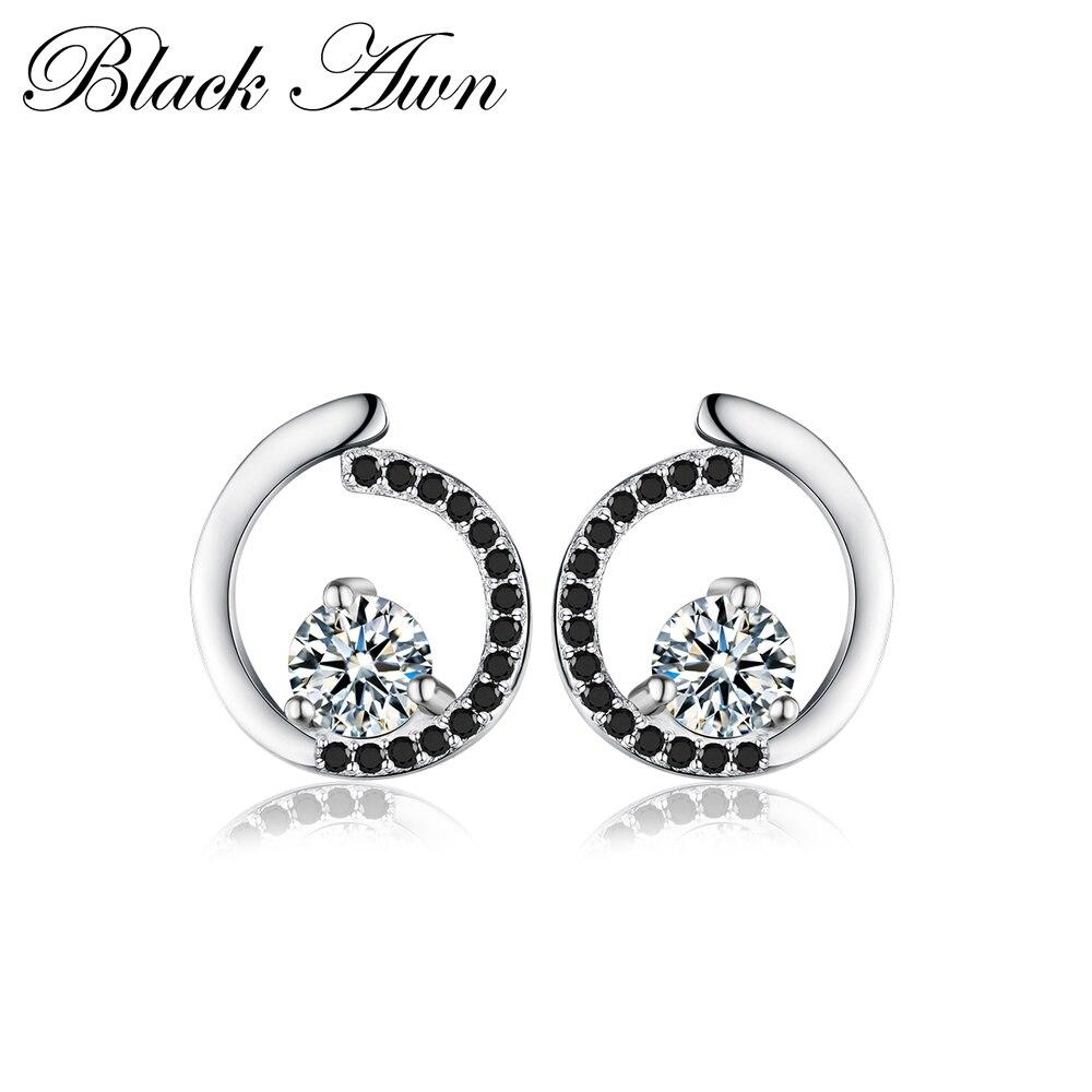 Edler Schmuck Echtes 925 Sterling Silber Edlen Schmuck Trendy Engagement Stud Ohrringe Für Frauen Bijoux Weibliche Ohrring T011 Attraktive Designs;