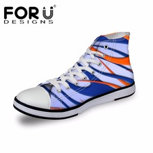 FORUDESIGNS 3D Casual Men's Shoes Men 2017 Autumn Classic High Top Vulcanize Shoes for Men Canvas Shoes Flats Man Zapatos(China)
