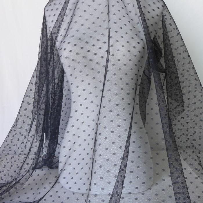 1 Yard Soft Tutu Fabric Mesh Net Tulle DIY Wedding Bridal Dress Decor Black