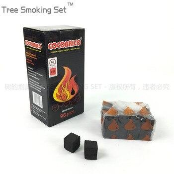 1 box 4 small bags cocobrico 96pcscube cube coconut shell charcoal Hookah Charcoal Shisha hooka coal  oduman narguile nartual
