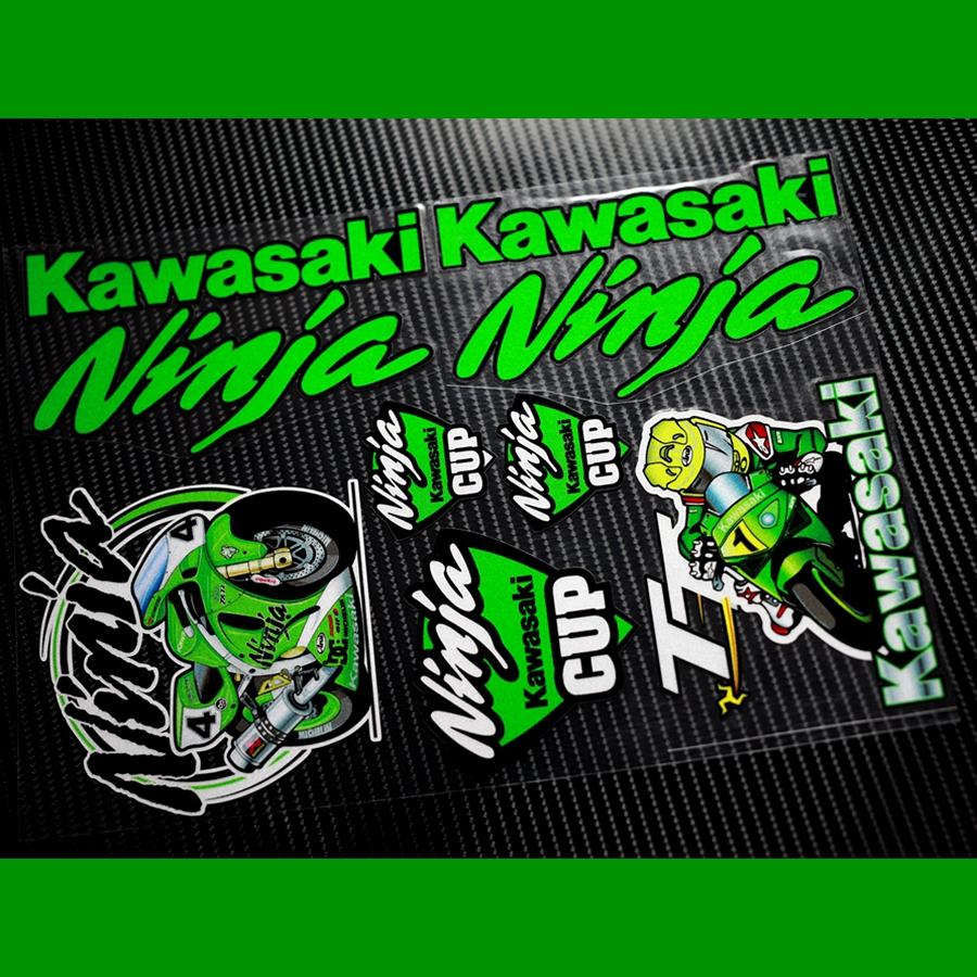 Moto gp skb sponsor kawasaki ninja motocross sticersdecals reflective motorcycle car stickers bike windshield helmet atv in decals stickers from