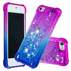 Touch 5 6 Case for Apple iPod Touch 6 Case glitter Liquid Quicksand Shockproof Back Cover on for Apple iPod Touch 5 Phone Case