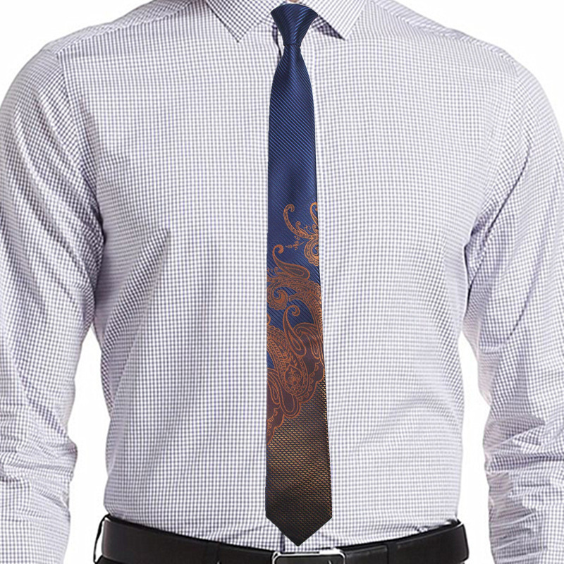 Ricnais Slim Men Ties Narrow Stropdassen 6 cm Classic Paisley Tie - Kledingaccessoires