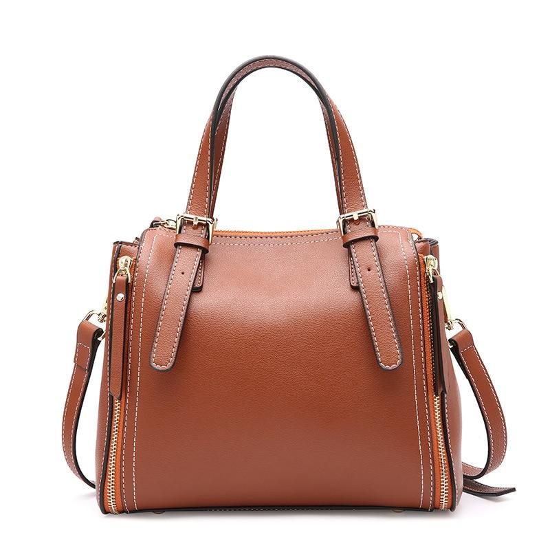 Luxury brand new women leather handbags Korean fashion casual soft surface Calfskin shoulder bags large capacity women bag