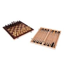 3 в 1 нарды деревянный Международный шахматный набор настольные дорожные игры шахматы нарды шашки развлечения