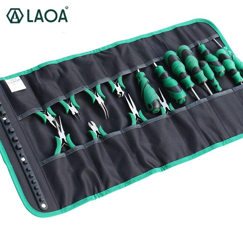 LAOA Oxford laminado de tela, bolsa para destornilladores de herramientas de almacenamiento Mini alicates electricista Workbag sin herramientas LA212815