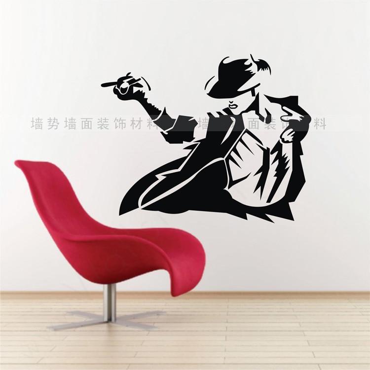 Online Shop Michael Jackson Wall Sticker Vinyl Stickers Wall Decals Vintage  Poster Wall Paper Art Murals DIY Home Decor Adesivo De Parede | Aliexpress  ... Part 39