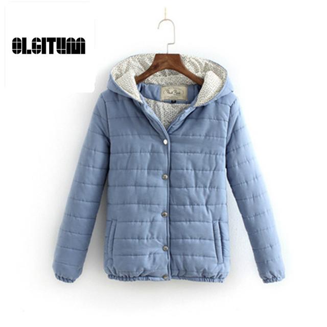 2016 Outono & Inverno Parka do Revestimento do Revestimento Das Senhoras Das Mulheres Jaqueta de algodão Acolchoado Fino Das Mulheres 3 Cores