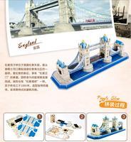 Cubicfun 3d-puzzel bouwplaat monteren building tower bridge London Engeland UK baby hand werk game verjaardagscadeau Kerst 1 set