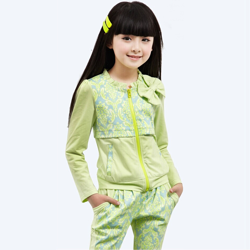 Spring Kids Clothes Christmas Girl Clothing Children Clothes Girls Outfits Cotton Print Long Sleeves 2pcs Kids Sets Tops+Pant lovely spring new year cotton long sleeves baby kids children suits boys pajamas christmas girls clothing sets clothes