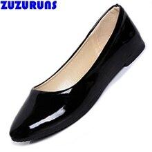 Superficial resbalón en los zapatos para las mujeres ultraligeros mujeres de cuero de la pu zapatos planos de color caramelo de las señoras zapatos de los planos de las mujeres zapatos de mujer 725 v