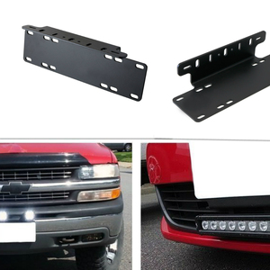 Image 5 - Marloo Universal Front Bumper License Plate Mounting Bracket Holder For Offroad LED Driving Work Light Bar Truck SUV 4x4 4WD