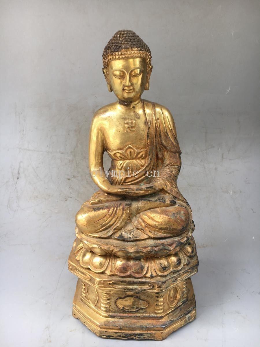 13bronze gild gold plating buddhism Amitabha tathagata Sakyamuni buddha statue13bronze gild gold plating buddhism Amitabha tathagata Sakyamuni buddha statue