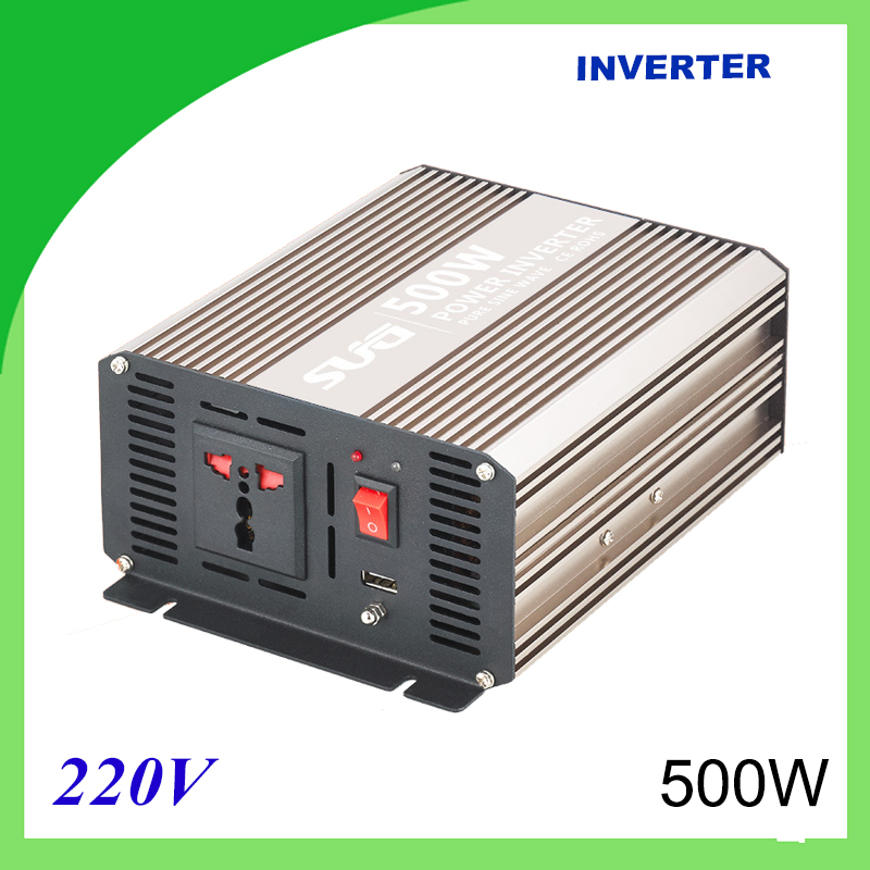 500W pure sine wave solar power inverter DC 12V 24V to AC 110V 220V digital