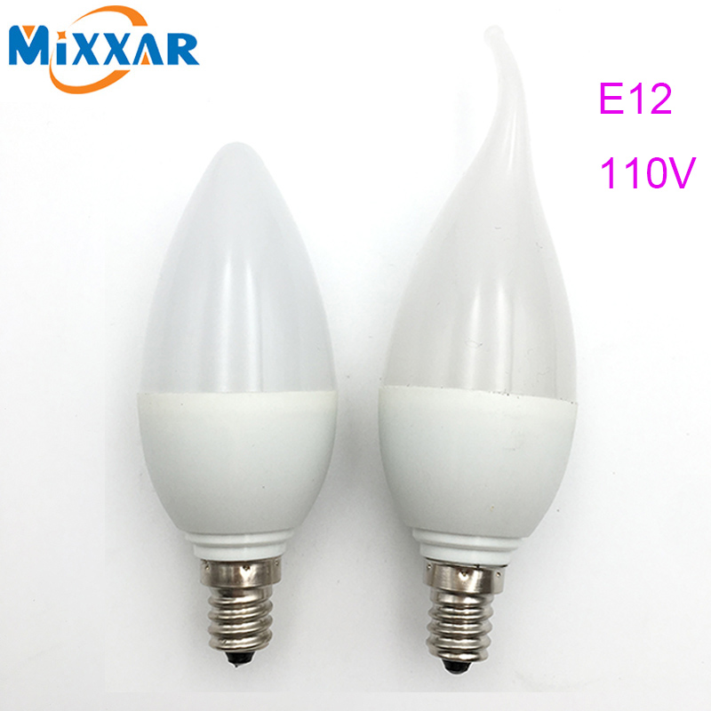 LED Candle Lamp E12 110V 220V SMD2835 Lampada LED Lights Bulb High Brightness LED Chandelier Candle light E12 Warm/Cool White candle led bulb e14 9w 12w aluminum shell e14 led light lamp 220v golden silver cool warm white ampoule lampara led smd 2835