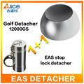 (shipping to US)12000GS EAS System Tag Remover Super Magnet Golf Detacher  For Supermarket Clothes store+ 1PC stop lock detacher