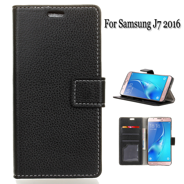new style d5d24 147a1 US $7.49 5% OFF For Leather Case Samsung J7 2016 Magnetic Flip Wallet Card  Holder cell Phone Cover case For Samsung Galaxy J7 2016 5 colors-in Flip ...