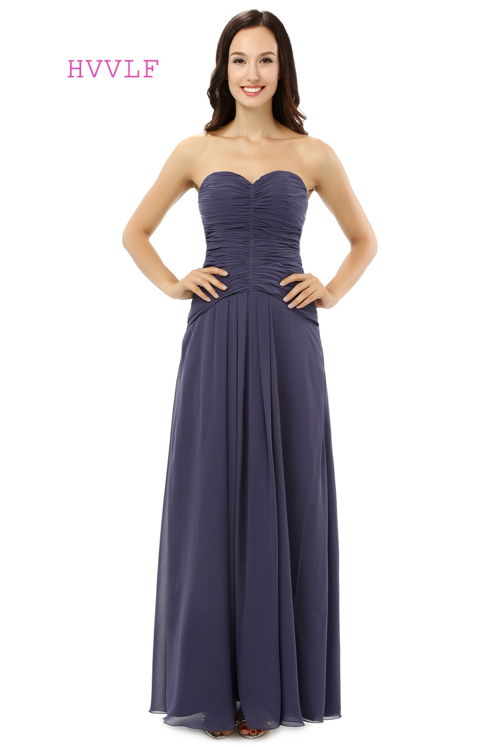 Compare prices on dark gray bridesmaid dresses long online cheap 2017 bridesmaid dresses under 50 a line sweetheart floor length chiffon dark gray long ombrellifo Gallery