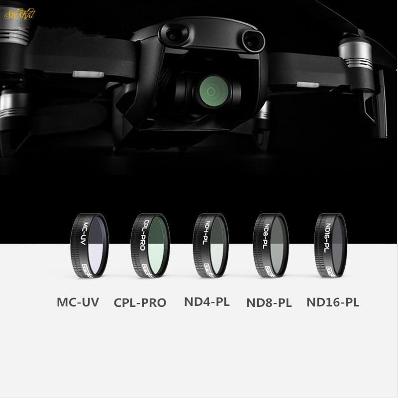 Mavic aire Drone PL ajustar filtros de densidad neutra UV CPL y ND4 ND8 ND16 CPL HD filtro para DJI Mavic aire Drone Accesorios