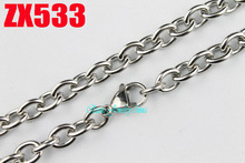 7mm big open annulus oval chain 16″-38″ length stainless steel necklace man male fashion jewelry chains 20pcs ZX533