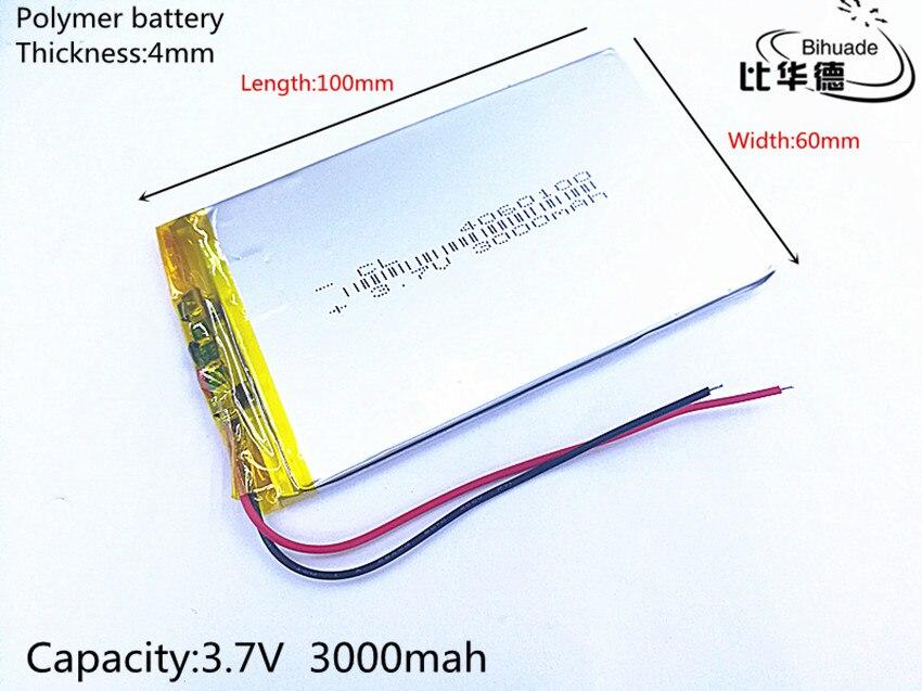 3,7 в 3000 мАч 4060100 литий-полимерный Li-Po Li ion Перезаряжаемые Батарея клетки для Mp3 MP4 MP5 gps Оборудование для psp Мобильный bluetooth