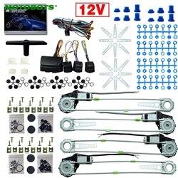 MOTOBOTOS 1 Bộ DC12V Xe/Tự Động Đa Năng 4 Cửa Electronice Điện Cửa Sổ bộ dụng cụ Với 8 cái/bộ Swithces và Dây Nịt